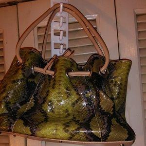 Handbags - Multi colored patent leather